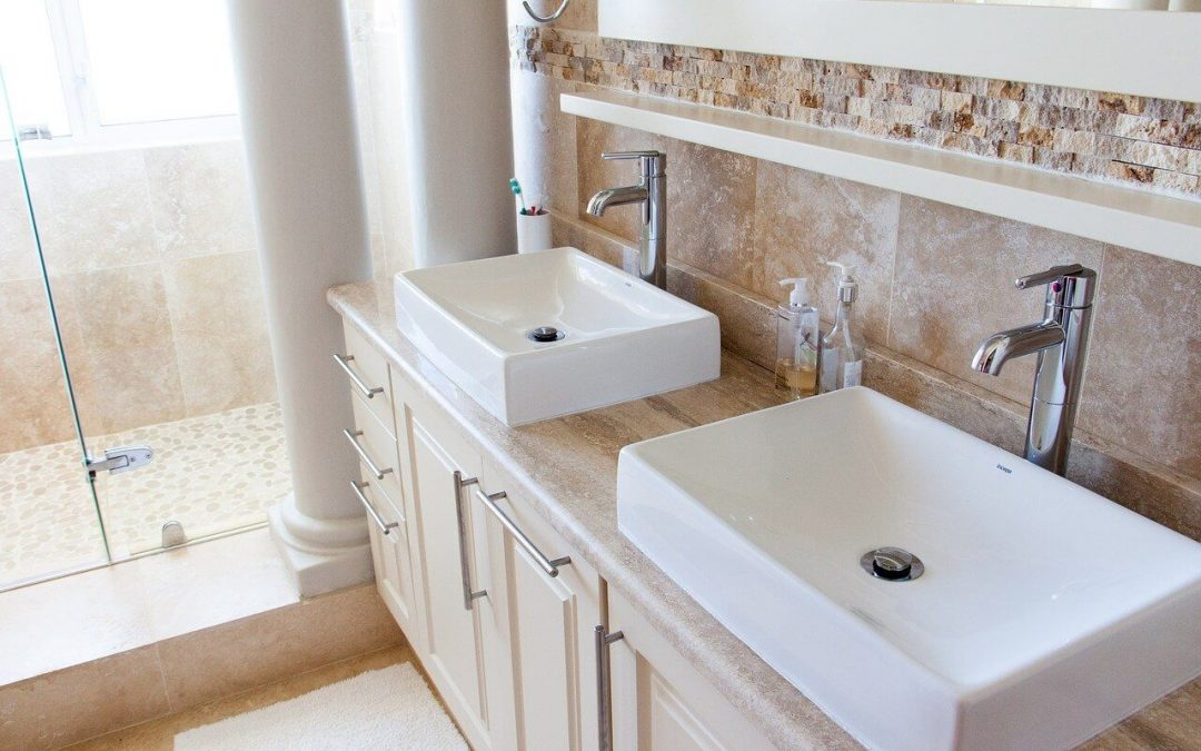 bathroom remodeling includes new cabinet hardware